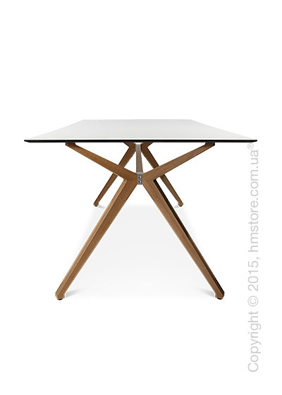 Стол Wagner W-Table Holzgestell 900x1800 мм, Матовое стекло