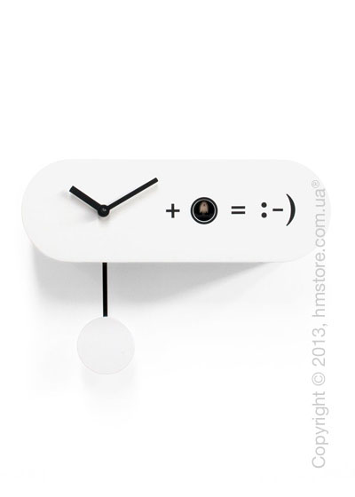Часы настенные Progetti Pared Formula Wall Clock, White