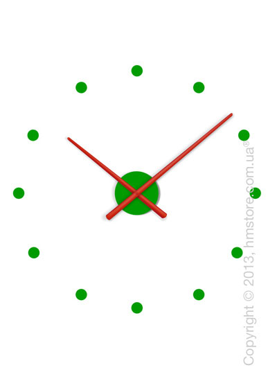 Часы настенные Nomon OJ Mixto Mini Wall Clock, Red and Green