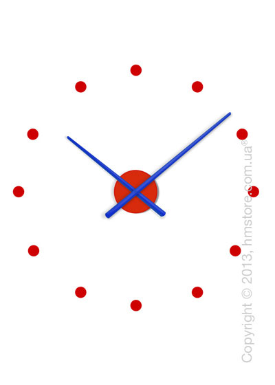 Часы настенные Nomon OJ Mixto Mini Wall Clock, Blue and Red