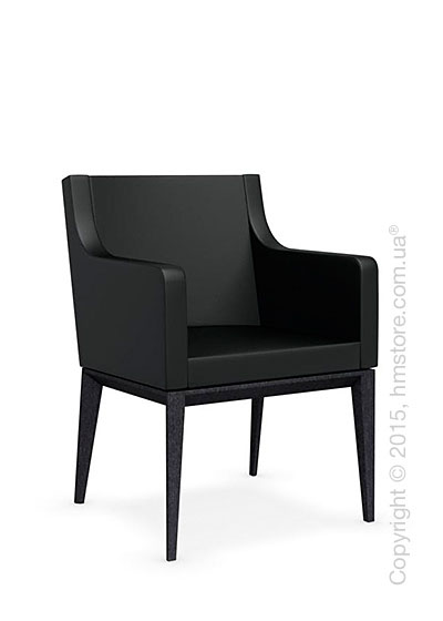 Кресло Calligaris Bess Armchair, Solid wood graphite beech stained and Gummy coating black