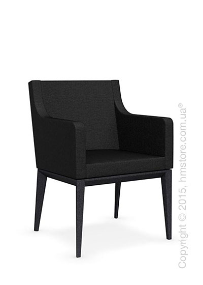 Кресло Calligaris Bess Armchair, Solid wood graphite beech stained and Denver fabric anthracite