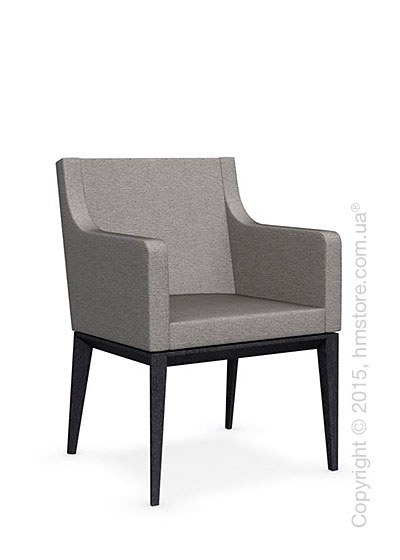 Кресло Calligaris Bess Armchair, Solid wood graphite beech stained and Denver fabric cord
