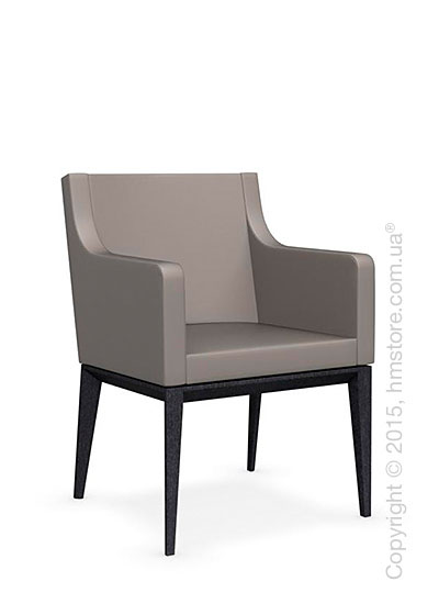 Кресло Calligaris Bess Armchair, Solid wood graphite beech stained and Gummy coating taupe