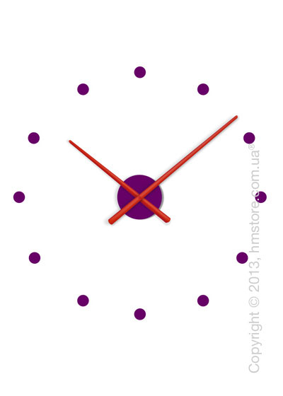 Часы настенные Nomon OJ Mixto Mini Wall Clock, Red and Purple