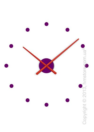 Часы настенные Nomon OJ Mixto Mini Wall Clock, Red and Purple