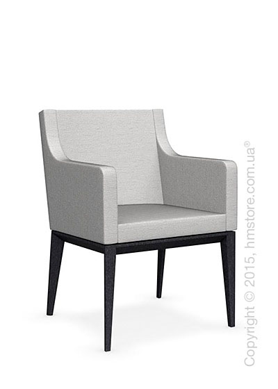 Кресло Calligaris Bess Armchair, Solid wood graphite beech stained and Denver fabric sand
