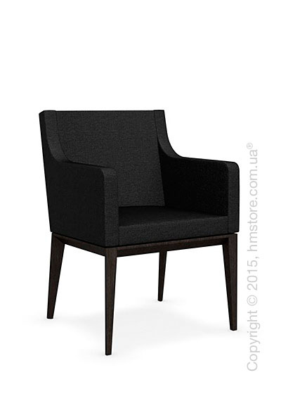 Кресло Calligaris Bess Armchair, Solid wood wenge beech stained and Denver fabric anthracite