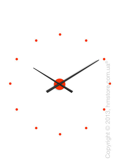 Часы настенные Nomon OJ Mixto Wall Clock, Black and Orange