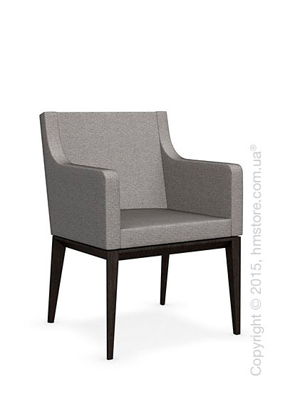 Кресло Calligaris Bess Armchair, Solid wood wenge beech stained and Denver fabric cord