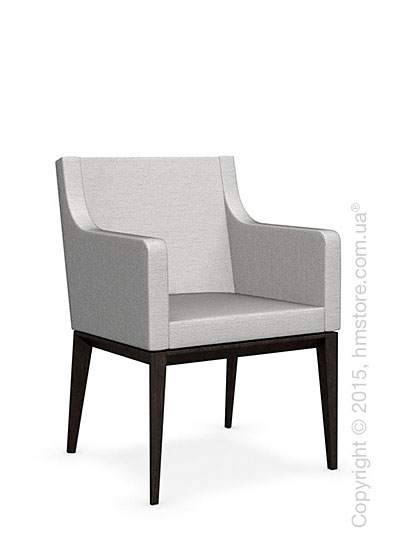 Кресло Calligaris Bess Armchair, Solid wood wenge beech stained and Denver fabric sand