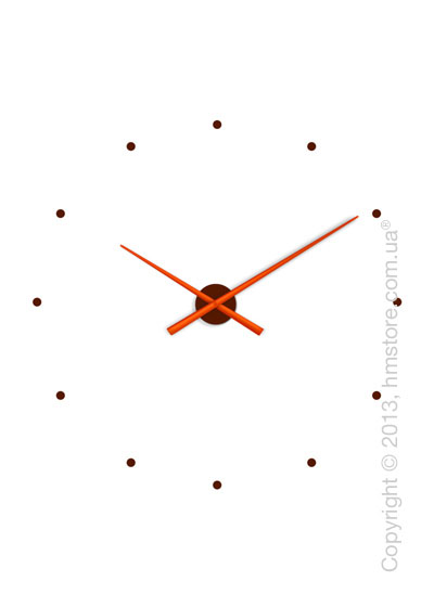 Часы настенные Nomon OJ Mixto Wall Clock, Orange and Chocolate