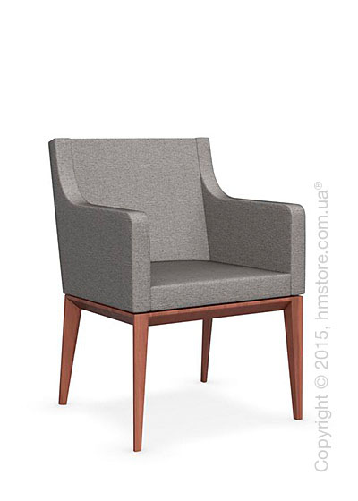 Кресло Calligaris Bess Armchair, Solid wood walnut beech stained and Denver fabric cord