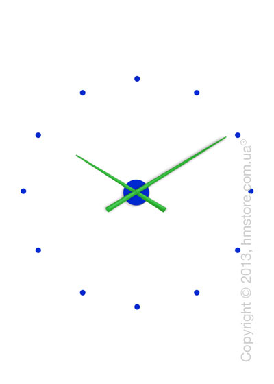 Часы настенные Nomon OJ Mixto Wall Clock, Green and Blue