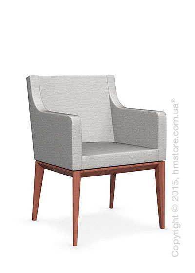 Кресло Calligaris Bess Armchair, Solid wood walnut beech stained and Denver fabric sand