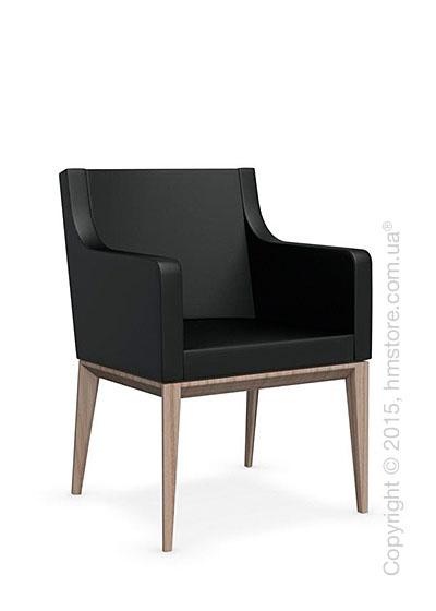 Кресло Calligaris Bess Armchair, Ashwood natural and Gummy coating black