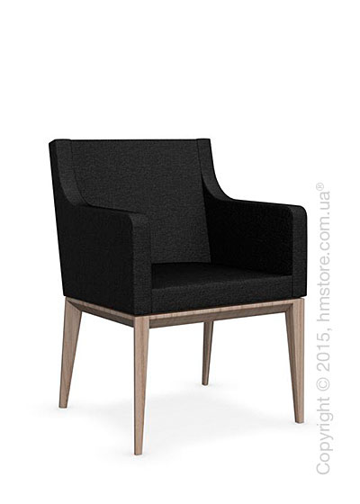 Кресло Calligaris Bess Armchair, Ashwood natural and Denver fabric anthracite