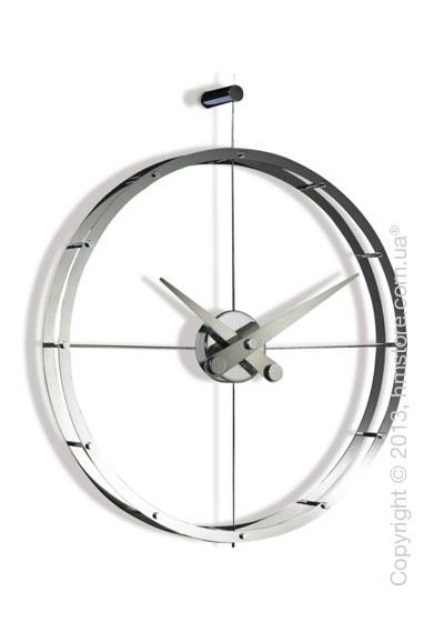 Часы настенные Nomon 2 Puntos Wall Clock, Steel