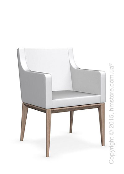 Кресло Calligaris Bess Armchair, Ashwood natural and Leather optic white