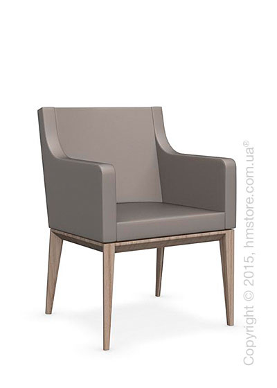 Кресло Calligaris Bess Armchair, Ashwood natural and Gummy coating taupe