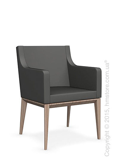 Кресло Calligaris Bess Armchair, Ashwood natural and Leather taupe
