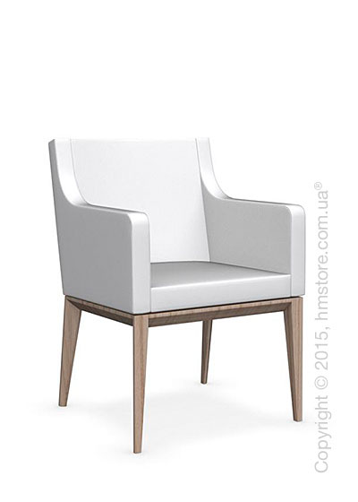 Кресло Calligaris Bess Armchair, Ashwood natural and Gummy coating optic white
