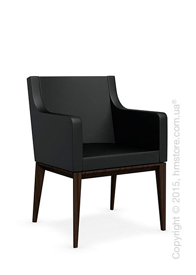 Кресло Calligaris Bess Armchair, Ashwood smoke and Gummy coating black