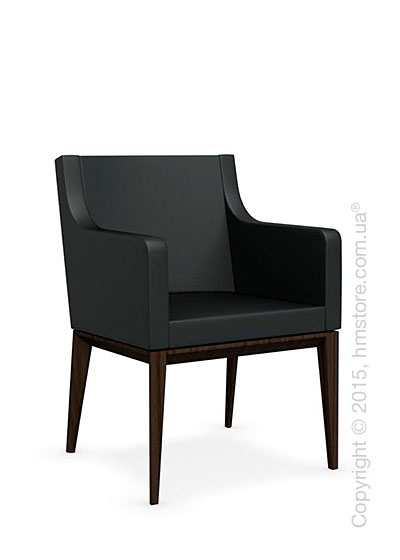 Кресло Calligaris Bess Armchair, Ashwood smoke and Leather black