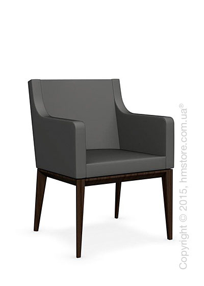 Кресло Calligaris Bess Armchair, Ashwood smoke and Leather taupe