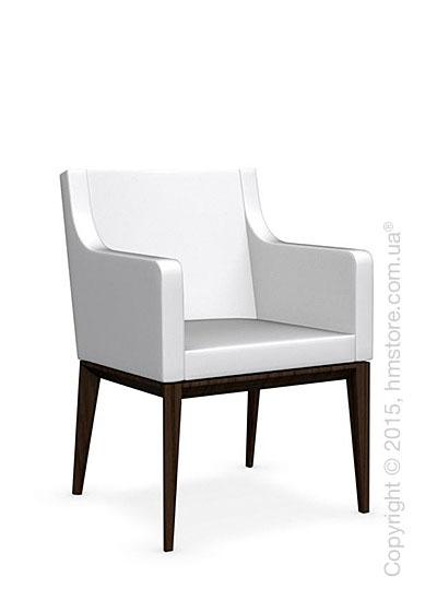 Кресло Calligaris Bess Armchair, Ashwood smoke and Gummy coating optic white