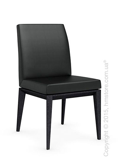 Стул Calligaris Bess Low, Solid wood graphite beech stained and Gummy coating black