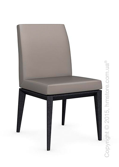 Стул Calligaris Bess Low, Solid wood graphite beech stained and Gummy coating taupe