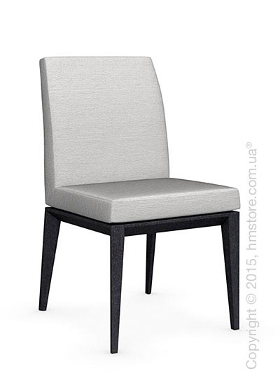 Стул Calligaris Bess Low, Solid wood graphite beech stained and Denver fabric sand
