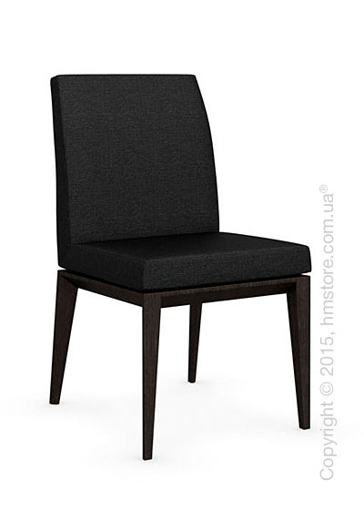 Стул Calligaris Bess Low, Solid wood wenge beech stained and Denver fabric anthracite