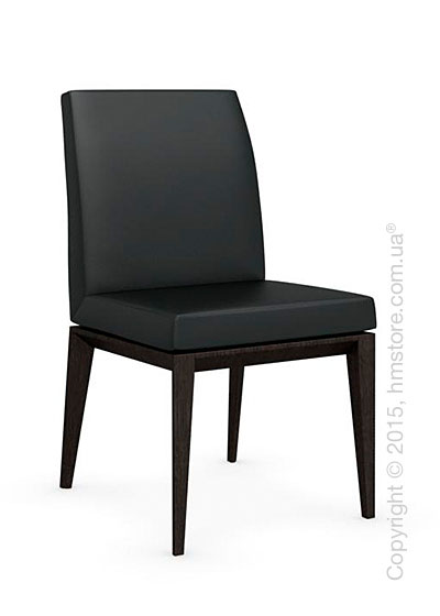 Стул Calligaris Bess Low, Solid wood wenge beech stained and Leather black
