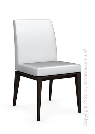 Стул Calligaris Bess Low, Solid wood wenge beech stained and Leather optic white