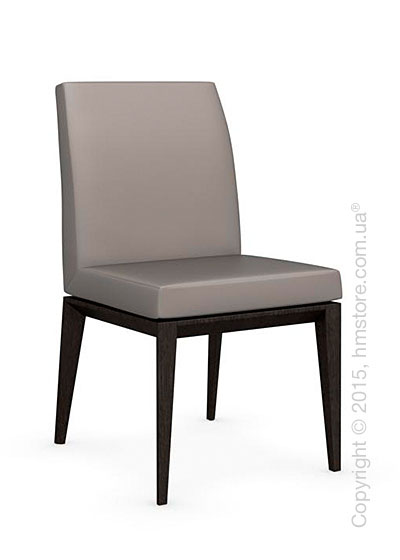 Стул Calligaris Bess Low, Solid wood wenge beech stained and Gummy coating taupe