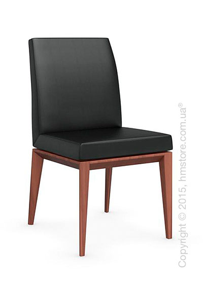 Стул Calligaris Bess Low, Solid wood walnut beech stained and Gummy coating black