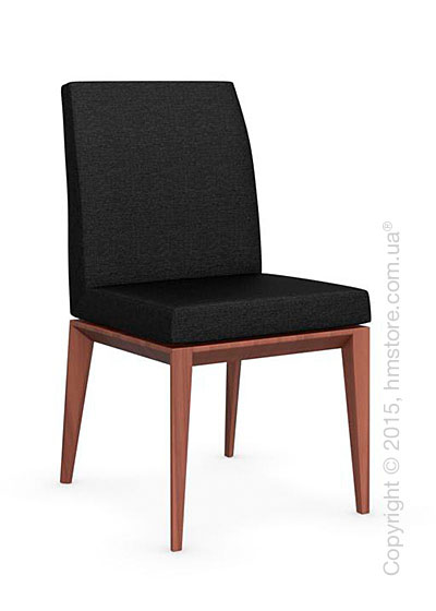 Стул Calligaris Bess Low, Solid wood walnut beech stained and Denver fabric anthracite