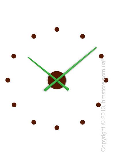 Часы настенные Nomon OJ Mixto Mini Wall Clock, Green and Chocolate