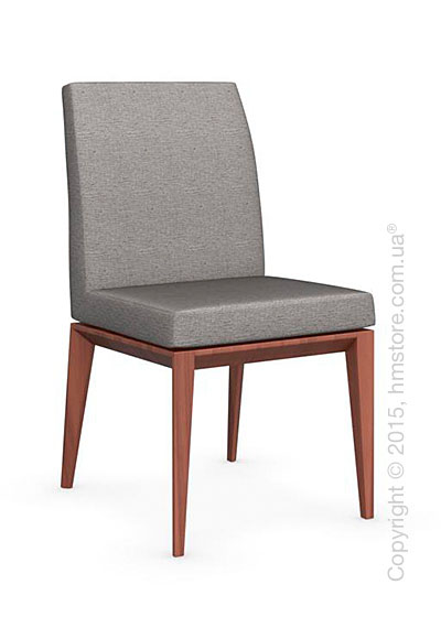 Стул Calligaris Bess Low, Solid wood walnut beech stained and Denver fabric cord