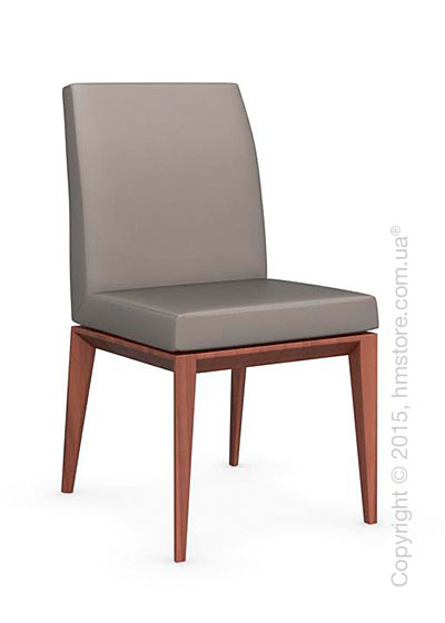 Стул Calligaris Bess Low, Solid wood walnut beech stained and Gummy coating taupe