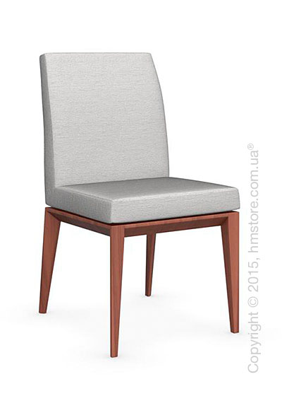 Стул Calligaris Bess Low, Solid wood walnut beech stained and Denver fabric sand