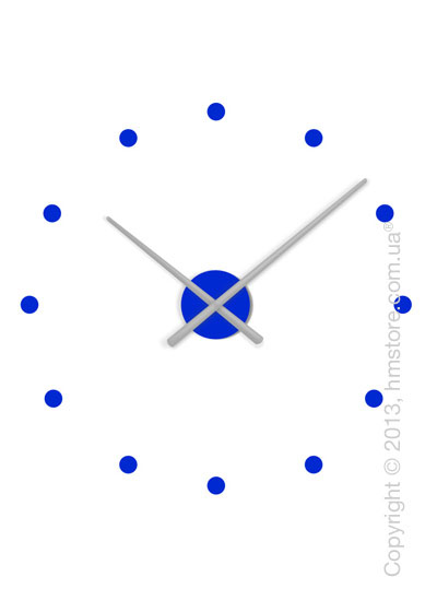 Часы настенные Nomon OJ Mixto Mini Wall Clock, Silver and Blue