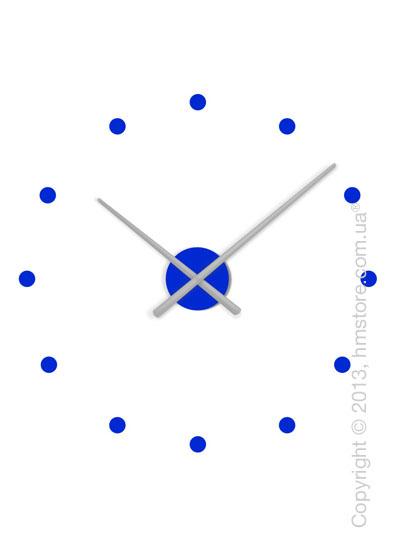 Часы настенные Nomon OJ Mixto Mini Wall Clock, Silver and Blue