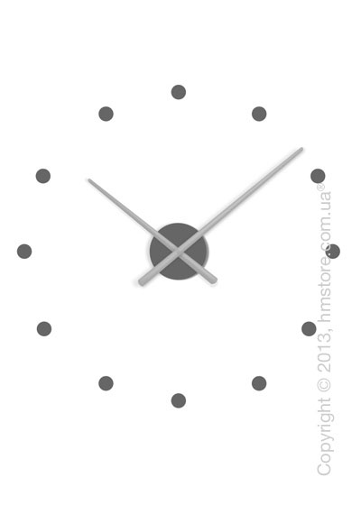 Часы настенные Nomon OJ Mixto Mini Wall Clock, Silver and Grey