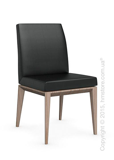 Стул Calligaris Bess Low, Ashwood natural and Gummy coating black