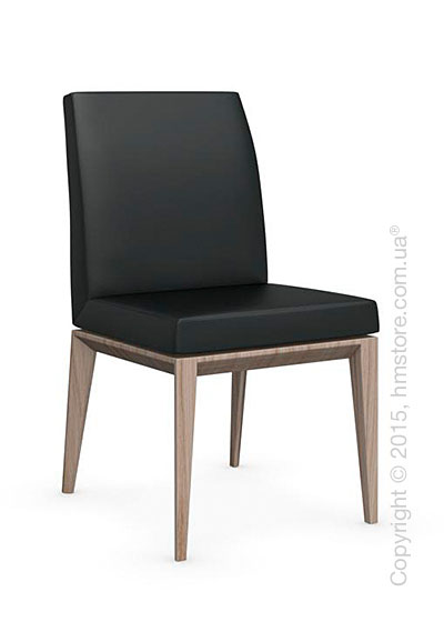 Стул Calligaris Bess Low, Ashwood natural stained and Leather black