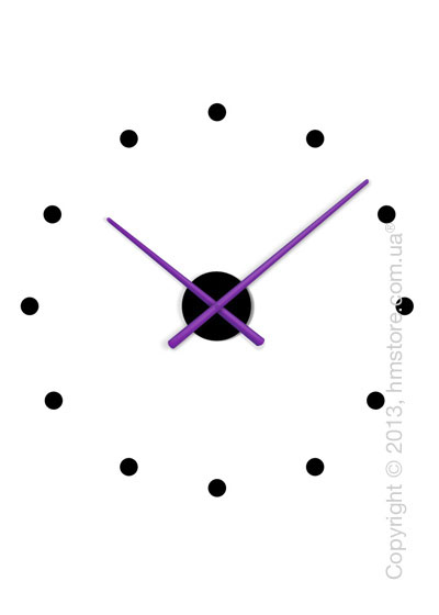 Часы настенные Nomon OJ Mixto Mini Wall Clock, Purple and Black