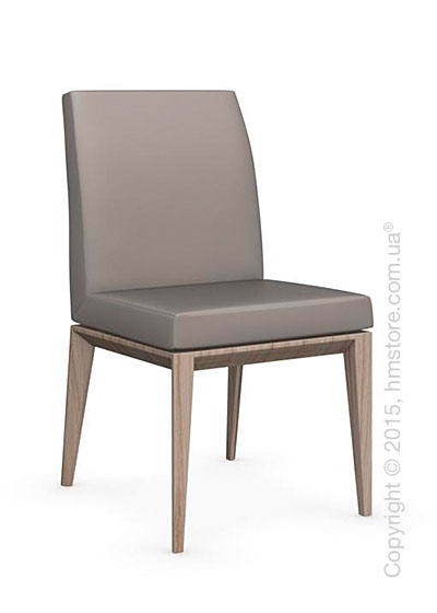 Стул Calligaris Bess Low, Ashwood natural and Gummy coating taupe